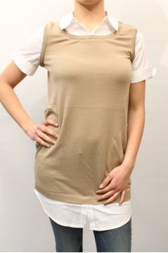 Picture of LINK TWIN-SET WOMAN T3S3F0 BEIGE
