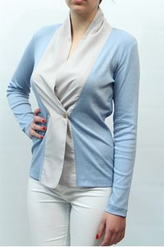 Picture of JACKET FABIANA FILIPPI WOMAN 466TE13 Q465 AZZURRO BIANCO