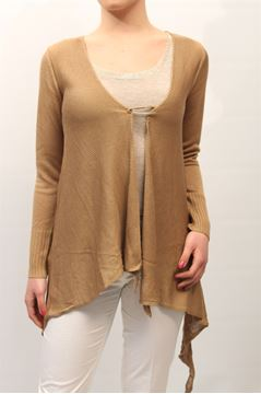 Picture of CARDIGAN LIST WOMAN TC/508 BEIGE