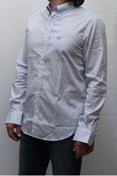 Picture of SHIRT HENRY COTTON'S MAN 26033 BIANCO AZZURRO P 2014