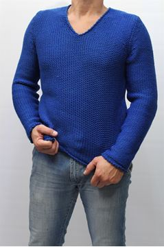 Picture of sweater BECOME MAN 524248A BLU CINA