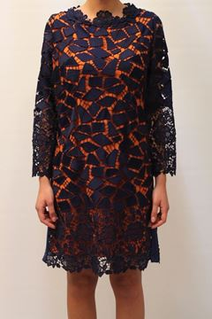 Picture of DRESS HANITA WOMAN HV1754 BLU ARANCIO