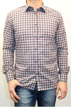 Picture of SHIRT AGLINI MAN DAVID 4074 QUADRI ROSSI