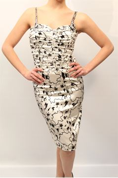 Picture of DRESS CLASS ROBERTO CAVALLI WOMAN 13P CD 851 BIANCO NERO