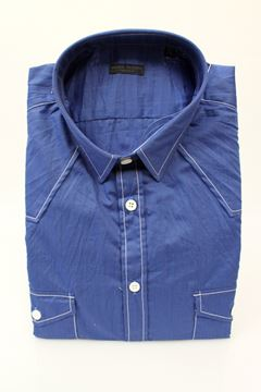 Picture of SHIRT PAOLO PECORA MAN PUS13003C78 BLU
