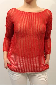 Picture of JERSEY LIST WOMAN PT/113 ROSSO