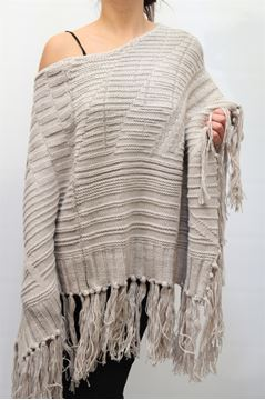 Picture of WOOL CAPE LIST WOMAN RC/34A BEIGE