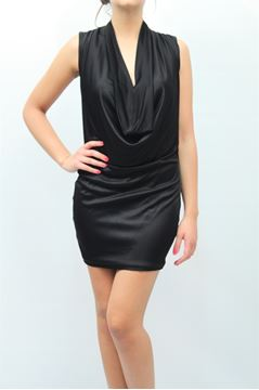 Picture of DRESS ELISABETTA FRANCHI WOMAN AB6903208 NERO