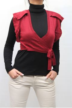 Picture of SHRUG PINKO WOMAN METANIERA ROSSO