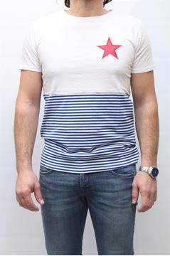 Picture of T-SHIRT MACCHIA J. MAN MJ HALF STAR BIANCO ROSSO