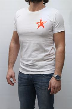 Picture of T-SHIRT MACCHIA J. MAN MJ STAR BIANCO ARANCIO