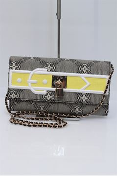 Picture of BAG V73 AGOSTINI WOMAN PATCH CLUTCH BEIGE GRIGIO P 2014