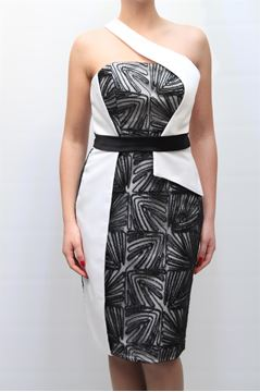 Picture of DRESS GLAMOUR WOMAN SP3347 BIANCO NERO
