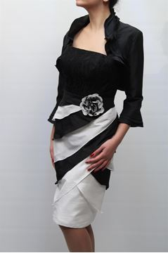 Picture of DRESS GLAMOUR WOMAN SP3371J NERO BIANCO