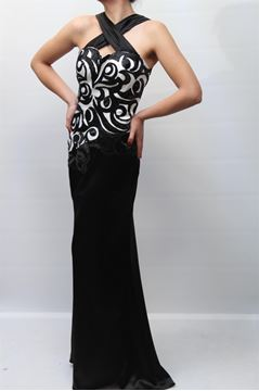 Picture of DRESS GLAMOUR WOMAN EV4264 BIANCO NERO