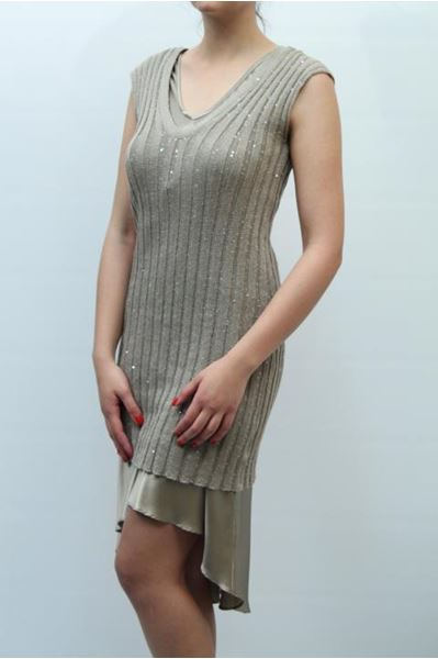 Picture of DRESS BRUNELLO CUCINELLI WOMAN M10536A82 BEIGE