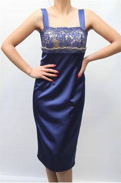 Picture of DRESS & JACKET CURVY ALLURE WOMAN 2014 24 + 2014 26 BLU/CINA