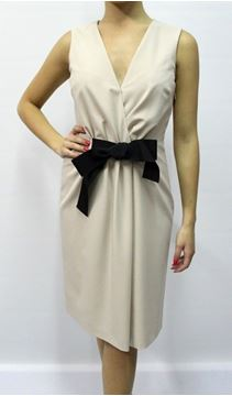 Picture of DRESS MOSCHINO WOMAN WVB2800S2342 BEIGE