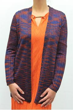 Picture of CARDIGAN MISSONI WOMAN FDA9Q5C0 BLU ARANCIONE