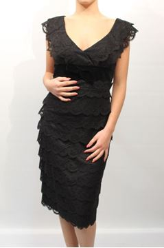 Picture of DRESS ARMANI COLLEZIONI WOMAN BMA98R BM454 NERO