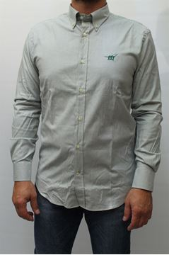 Picture of SHIRT HENRY COTTON'S MAN 52023 14 BIANCO VERDE
