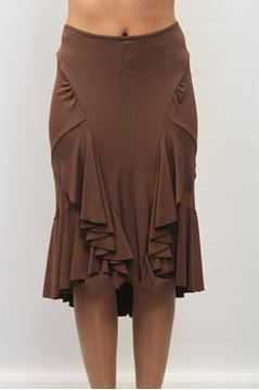 Picture of SKIRT ANGELO MARANI WOMAN 21 3642 MARRONE