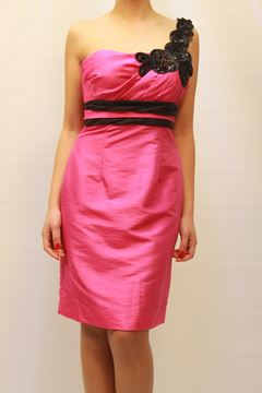 Picture of DRESS & SCARF GLAMOUR WOMAN BM1744ST FUXIA