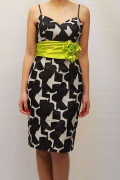 Picture of DRESS & SCARF GLAMOUR WOMAN SP3412ST BIANCO NERO