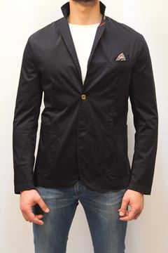 Picture of JACKET BOB MAN SATIN BLU