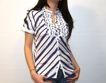 Picture of SHIRT AGLINI WOMAN CRYSTELMM1 BIANCO BLU