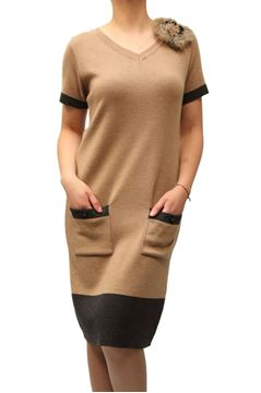 Picture of DRESS MARTA PALMIERI WOMAN I2.L749AM BEIGE