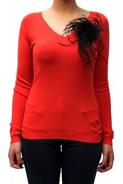 Picture of SWEATER 22 MAGGIO MARIA GRAZIA SEVERI WOMAN 7614 FI17 RED