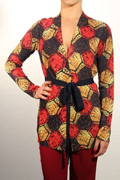 Picture of JACKET MALìPARMI WOMAN JD6096 77067 BLU ROSSO