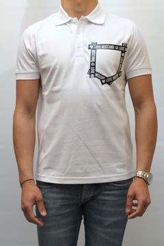 Picture of POLO LOVE MOSCHINO MAN M830101E1692 BIANCO