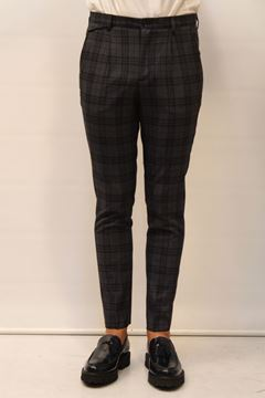 Picture of PANTS ALESSANDRO DELL'ACQUA MAN AD7017A QUADRI BLU