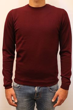 Picture of SWEATER ALPHA STUDIO MAN AU 4010C BORDEAUX