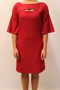 Picture of DRESS NENETTE WOMAN ACCARDI ROSSO