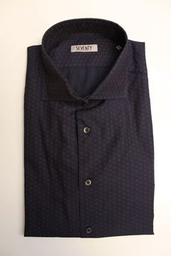 Picture of SHIRT SEVENTY MAN CA0320 210183 BLU BORDEAUX