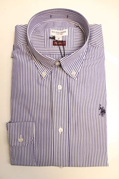 Picture of SHIRT U.S. POLO ASSN MAN 10437780 RIGHE BLU