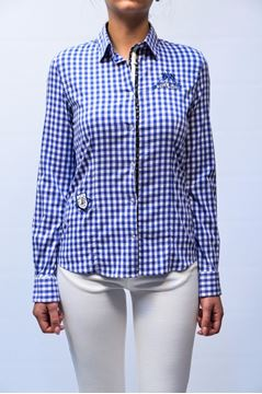 Picture of SHIRT LA MARTINA WOMAN L/S 129 BLU