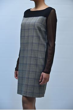 Picture of DRESS GRETHA MILANO WOMAN G.V024.2085 QUADRI