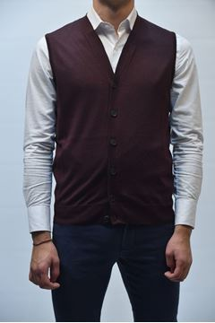 Picture of GILET BECOME MAN 542285A BORDEAUX