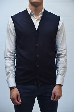 Picture of GILET BECOME MAN 542285A BLUE