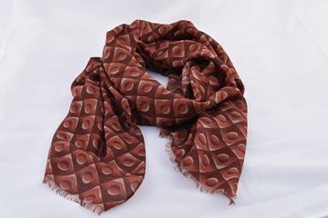 Picture of SCARF GIERRE MILANO MAN WOMAN 172296 FANTASIA BORDEAUX