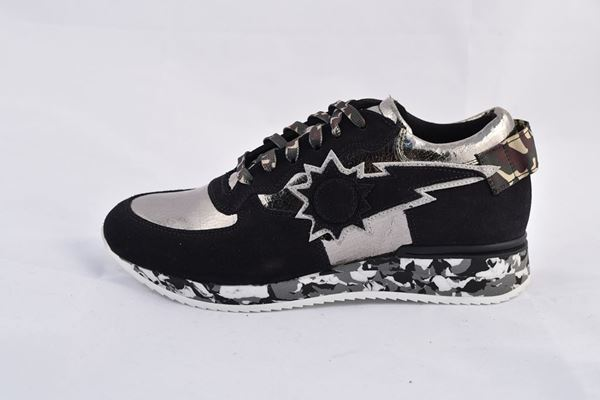 Picture of SHOES URBAN SUN WOMAN LAURE BLACK SILVER