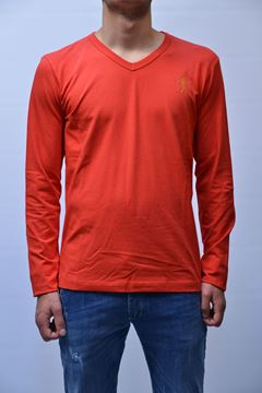 Picture of T-SHIRT BIKKEMBERGS MAN P06S7380545 RED