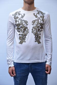Picture of T-SHIRT JUST CAVALLI MAN PO1716 30721 WHITE
