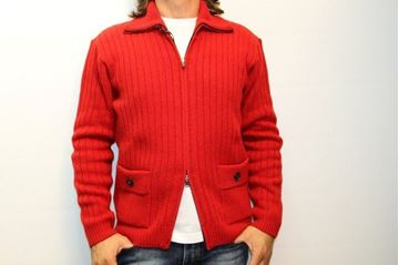 Picture of CARDIGAN BECOME MAN 442426 ROSSO