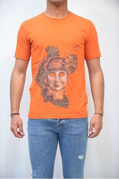Picture of T-SHIRT MAN ALESSANDRINI M6541E643 ARANCIO