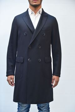 Picture of COAT MAN SEVENTY CP0186 160116 BLU